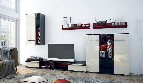 Biele obývacie steny a ich výhody